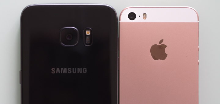 Samsung Galaxy S7 Edge vs. Apple iPhone SE