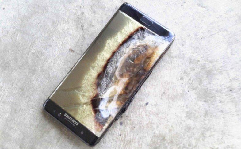 Samsung Galaxy Note 7 po wybuchu