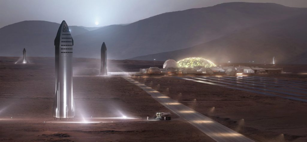 SpaceX - marsjańska kolonia